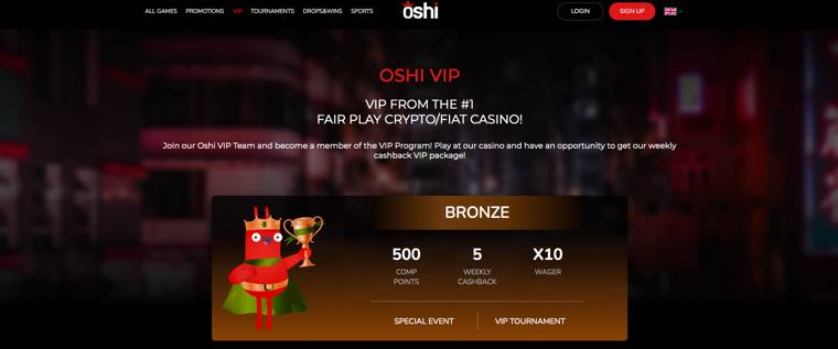 Oshi Casino - VIP Program